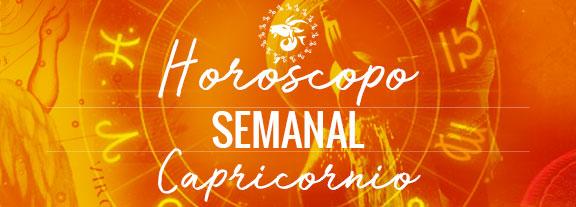 Horóscopo de Capricornio Semanal